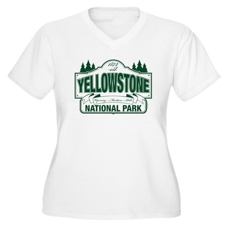 Yellowstone Green Design Women's Plus Size V-Neck 