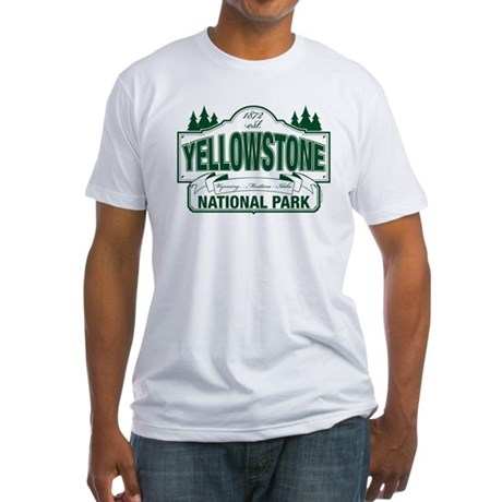 Yellowstone Green Sign Design Fitted T-Shirt