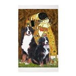 The Kiss - Two Bernese 3'x5' Area Rug