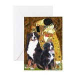 The Kiss - Two Bernese Greeting Card
