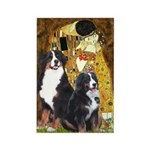 The Kiss - Two Bernese Rectangle Magnet