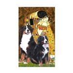 The Kiss - Two Bernese Sticker (Rectangle)