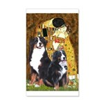 The Kiss - Two Bernese 20x12 Wall Decal