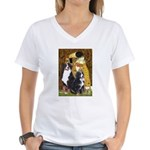 The Kiss - Two Bernese Women's V-Neck T-Shirt