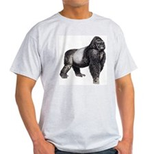 Gorilla (Front only) Ash Grey T-Shirt