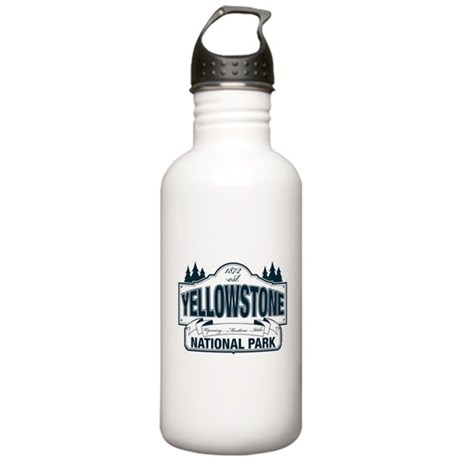 Yellowstone NP Blue Stainless Water Bottle 1.0L