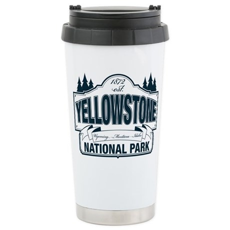 Yellowstone NP Blue Ceramic Travel Mug