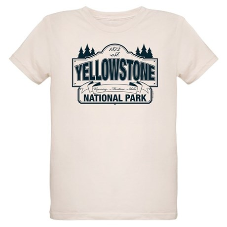 Yellowstone NP Blue Organic Kids T-Shirt