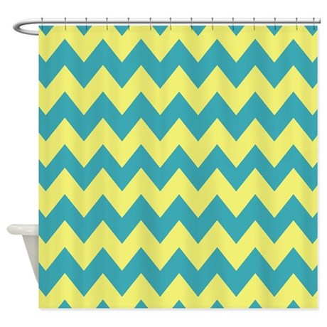 teal and yellow curtains teal and yellow chevron shower curtain by chevroncitystripes teal
