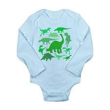FUN! LOTS of DINOSAURS! Long Sleeve Infant Bodysui