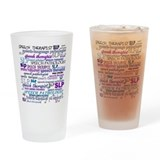 Languages Drinking Glass