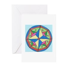 Stained Glass Art Greeting Cards (Pk of 10)