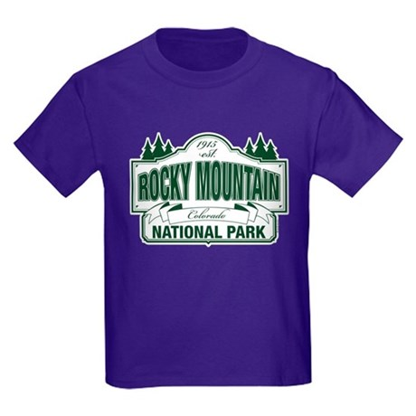 Rocky Mountain National Park Kids Dark T-Shirt