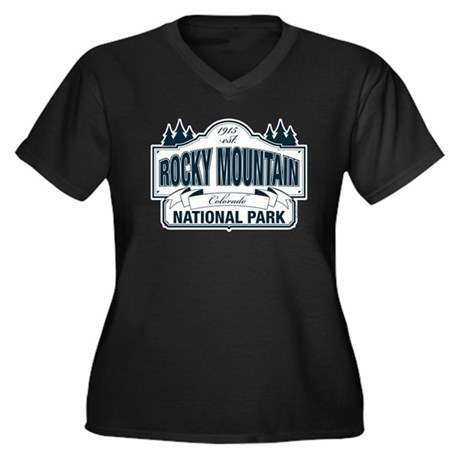 Rocky Mountain National Park Women's Plus Size V-N