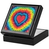 Colorful tie dye heart Keepsake Box