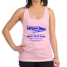 Shore Dinner Hall Clam Cake Blue Racerback Tank To