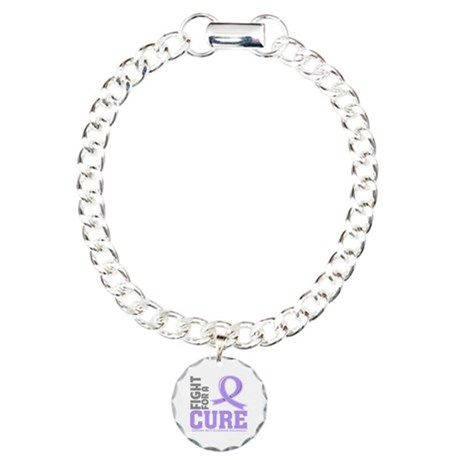 Rett Syndrome Fight For A Cure Charm Bracelet, One