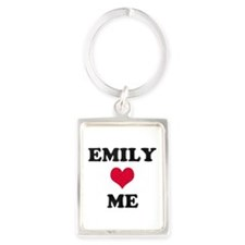 Emily Loves Me Portrait Keychain