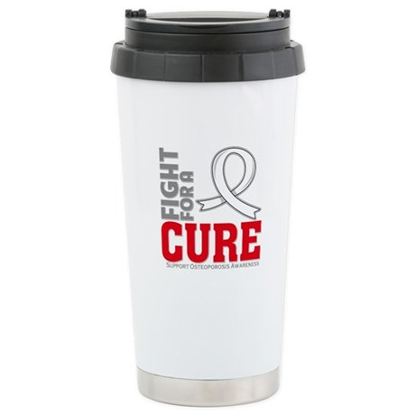Osteoporosis Fight For A Cure Ceramic Travel Mug