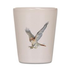 striking Red-tail Hawk Shot Glass