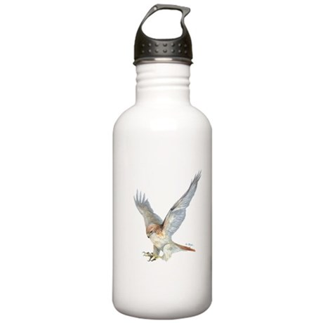 striking Red-tail Hawk Stainless Water Bottle 1.0L
