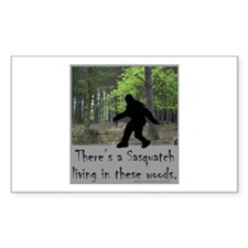 SASQUATCH LIVING IN THESE WOODS Bumper Stickers