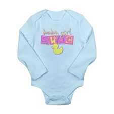 Baby Girl Swag Long Sleeve Infant Bodysuit