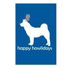 "Akita ""Happy Howlidays"" Postcards (Package of 8)"