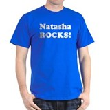 Natasha Rocks! Black T-Shirt