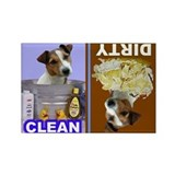 Funny Jack russell terrier Rectangle Magnet