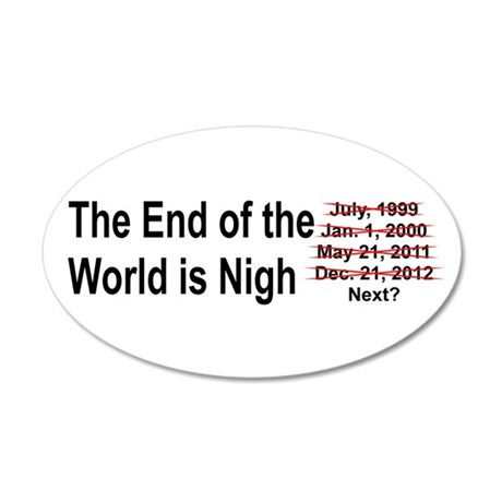 End of the World is Nigh button 35x21 Oval Wall De