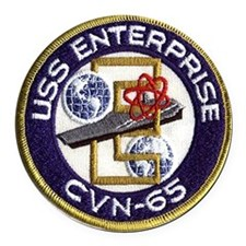 USS Enterprise CVN 65 Round Car Magnet