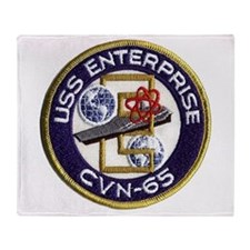 USS Enterprise CVN 65 Throw Blanket
