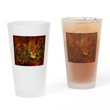 Two Tigers Drinking Glass