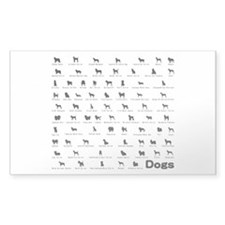Dogs Name Sticker (Rectangle)