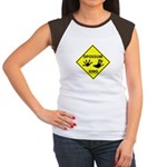 Opossum Crossing Women's Cap Sleeve T-Shirt