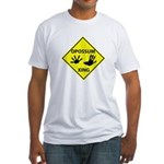 Opossum Crossing Fitted T-Shirt