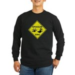Opossum Crossing Long Sleeve Dark T-Shirt