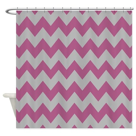 Purple And Gray Chevron Shower Curtain By Chevroncitystripes