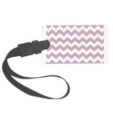 Lilac and White Chevron Luggage Tag
