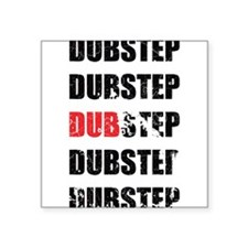 "Dubstep (Textured) Square Sticker 3"" x 3"""