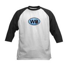 Wells Beach ME - Oval Design. Tee