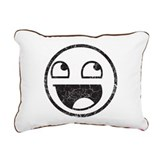 Epic Smiley Rectangular Canvas Pillow