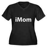 iMom Women's Plus Size V-Neck Dark T-Shirt