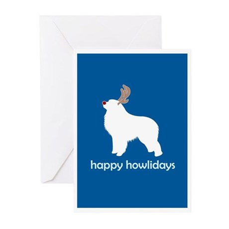 """G Pyrenees """"Happy Howlidays"""" Greeting Cards (Packa"""