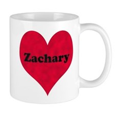 Zachary Leather Heart Mug