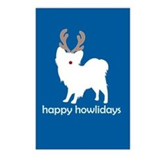 "Papillon ""Happy Howlidays"" Postcards (Package of 8"