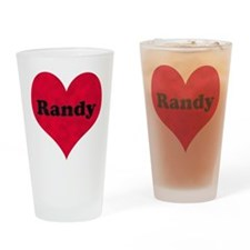 Randy Leather Heart Drinking Glass