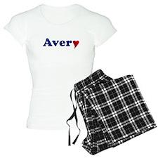 Avery with Heart Pajamas