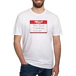 Big Jingleheimer Name Tag Fitted T-Shirt
